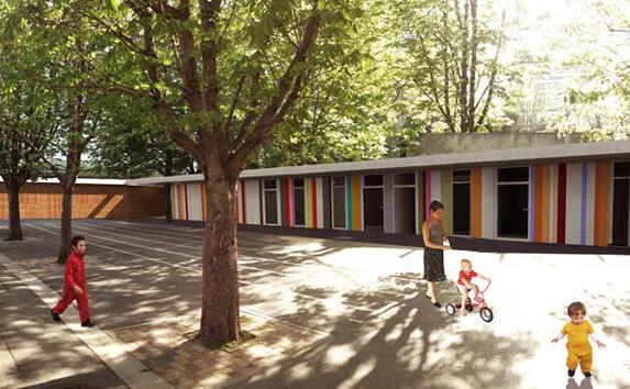aménagement collectivité territoriale - centre de loisirs - Maud Caubet Architectes