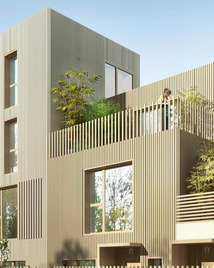 maison bois terrasse - architecte courbevoie - Maud Caubet Architectes