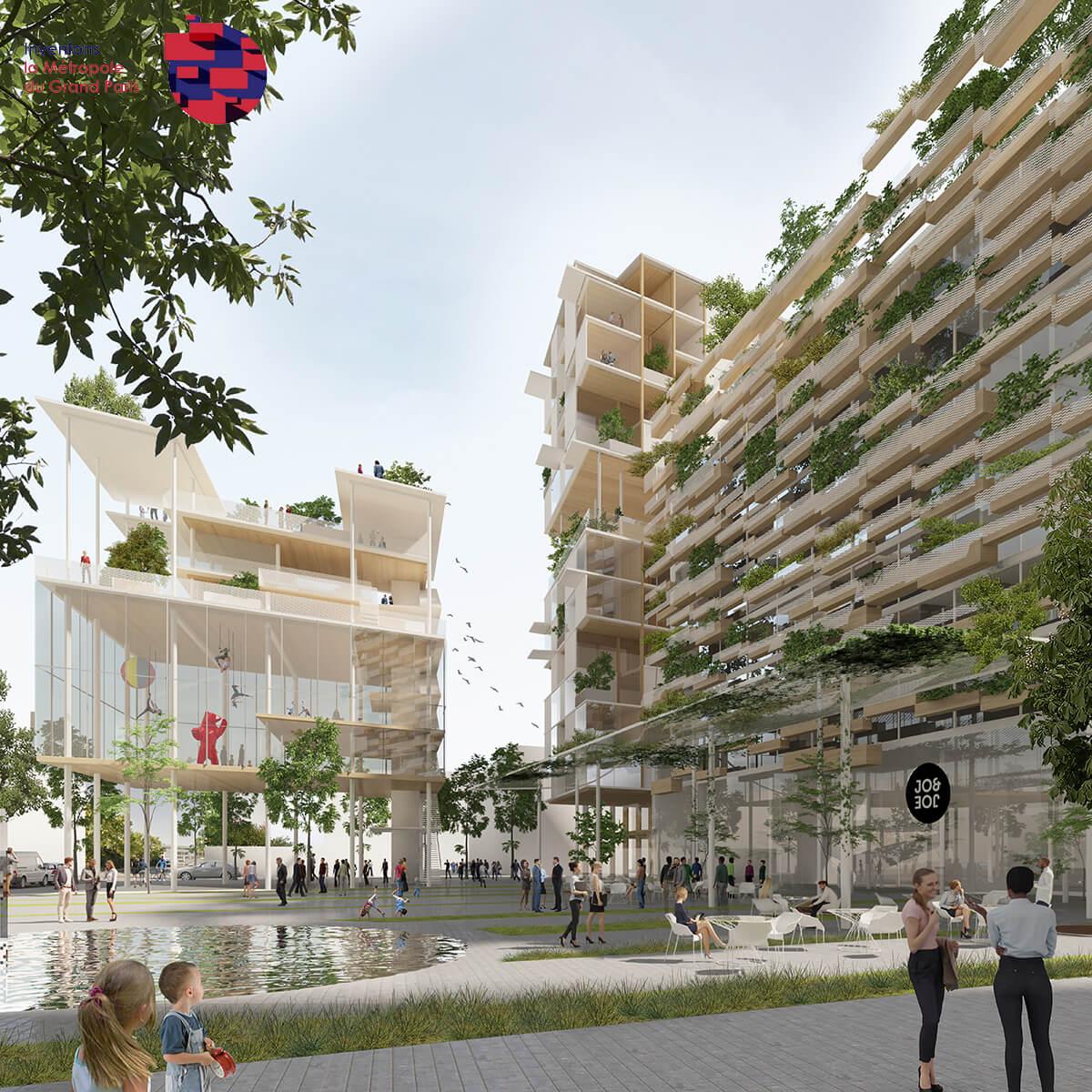 ©Les Lumières Pleyel / Sogelym - Snøhetta - Baumschlager Eberle Architekten - Ateliers 2/3/4/ - Chaix & Morel et Associés - Mars architectes - Maud Caubet Architectes - Moreau Kusunoki
